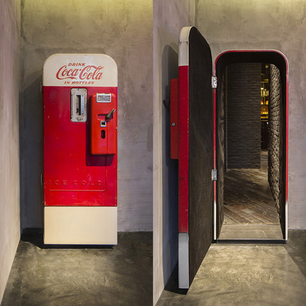 coca cola machine bar entrance
