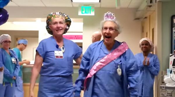 90 year-old nurse surprise birthday