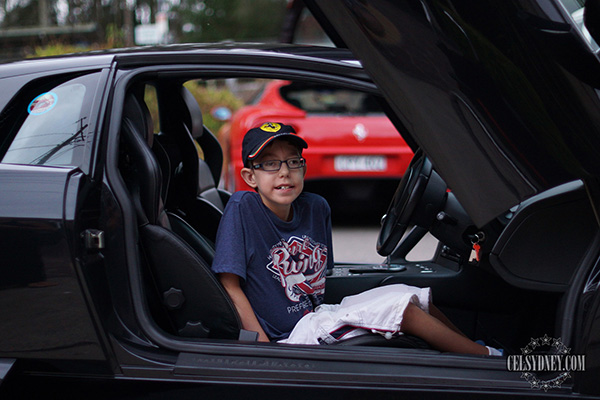 exotic car owners make boy with disability dream come true