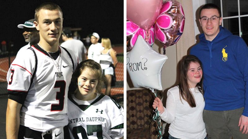 high school qb takes girl with down syndrome to prom 7 years later