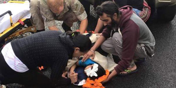 sikh man removes turban to save boy