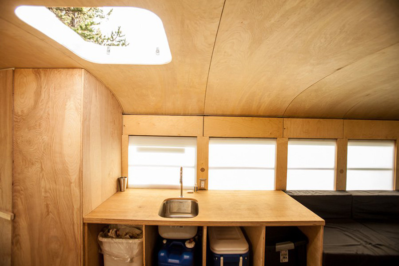 turns bus into tiny home