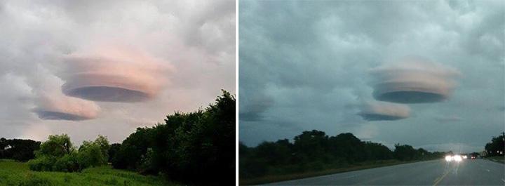 rare lenticular clouds Texas