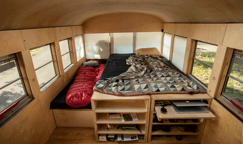 He Bought An Old School Bus On Craigslist And Turned It Into The