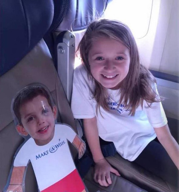 terminally ill boy sends girl to disney in his place