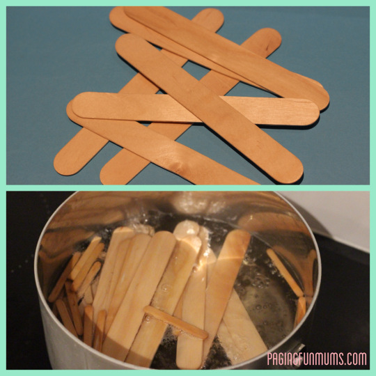 boil popsicle sticks