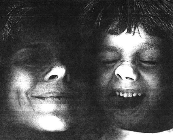 mom and son copier photo then and now