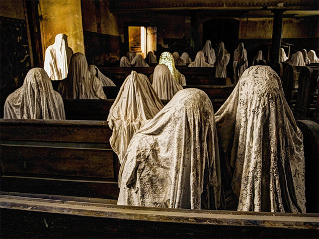 ghosts in church