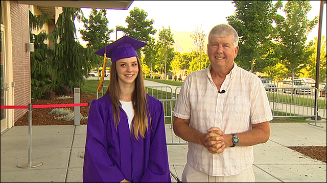 firefighter attends graduation of girl he saved as a baby