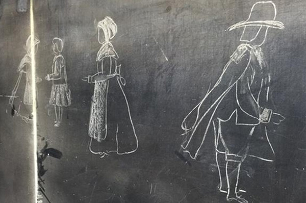 100 year old chalkboard lessons discovered in OK school