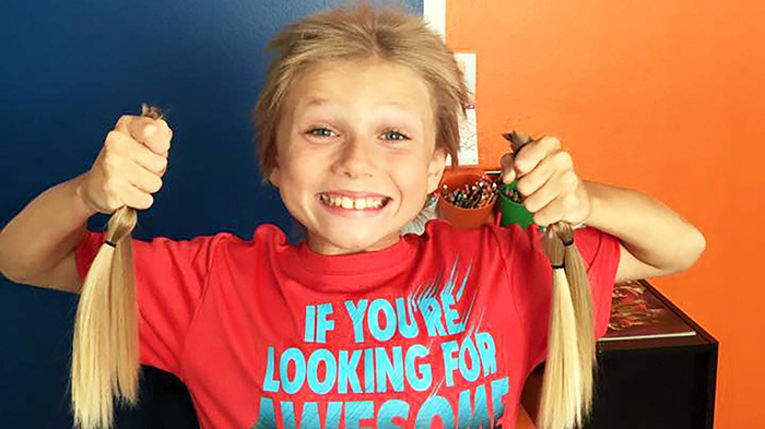 8 year old grows out hair for kids in need