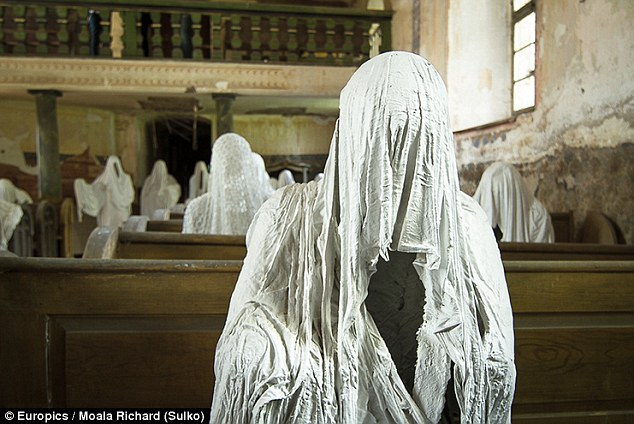 abandoned church filled with creepy ghosts