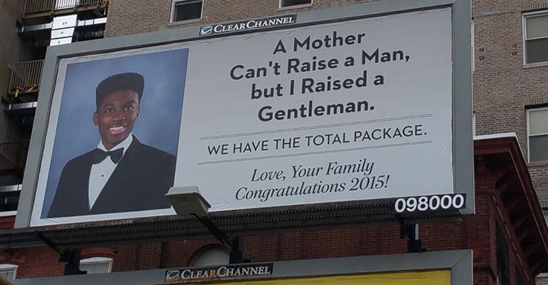 mom billboard for graduating son