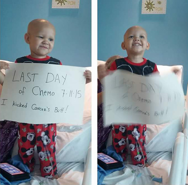 kid beats cancer
