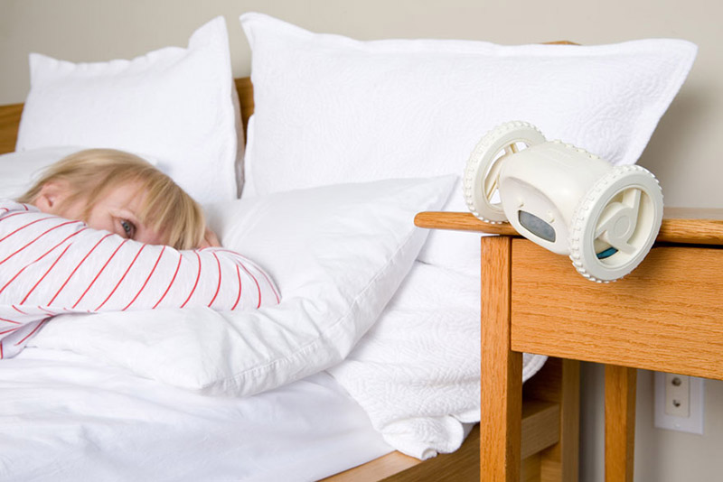 alarm clock that runs away no snooze