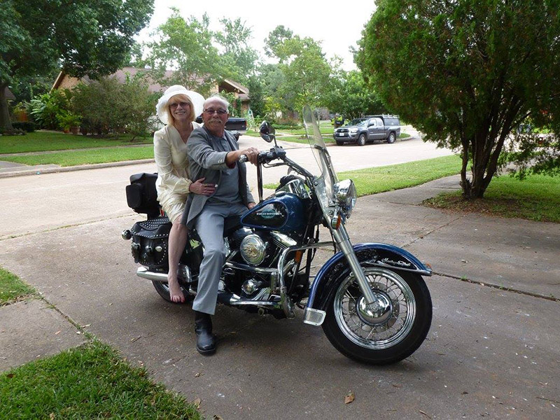 40 years later motorcycle couple