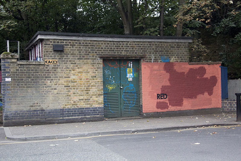 red graffiti building funny pictures