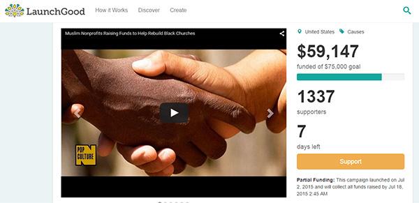 muslims raising money for burned christian churches