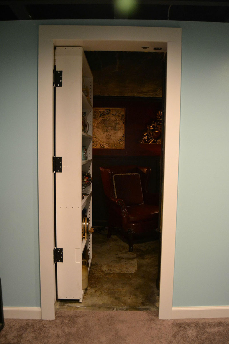 bookcase hidden man cave