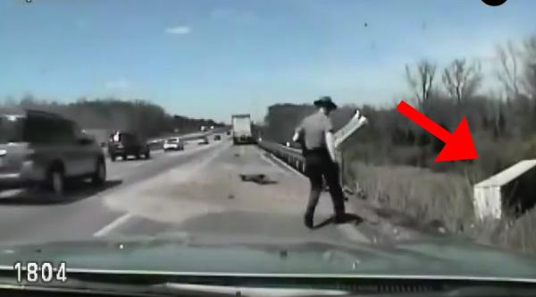hero cop saves trucker