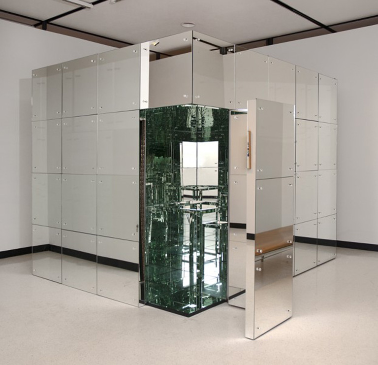 mirrored room and furniture