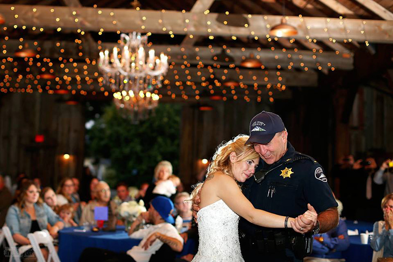 cops dance father daughter dance bride