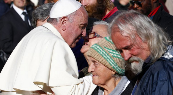 Pope Francis to dine with homeless