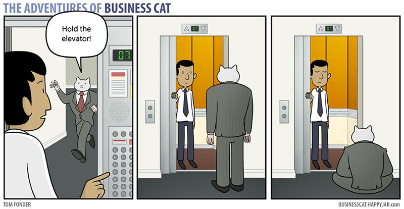if a cat was your boss funny cartoon