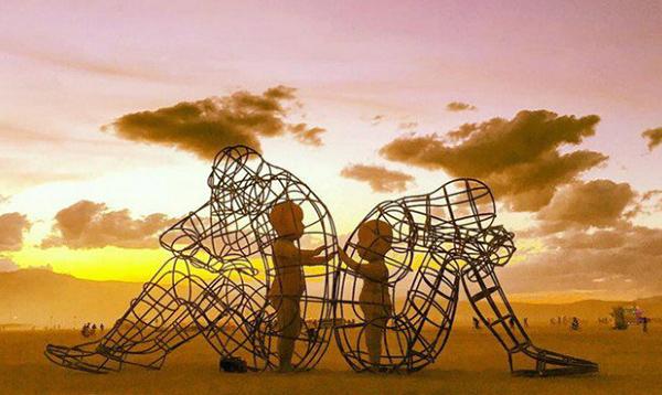 powerful sculpture at burning man