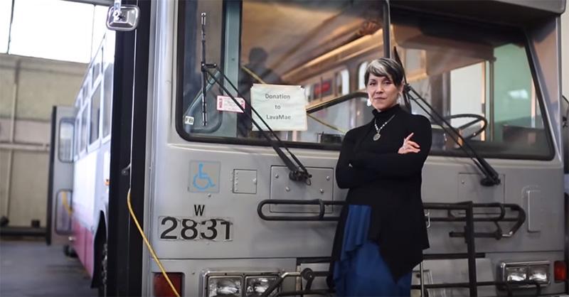 city buses showers for homeless