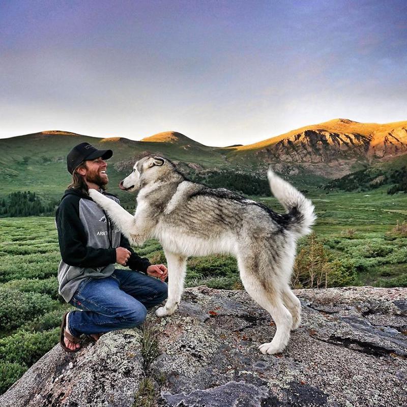 man takes dog on epic adventures