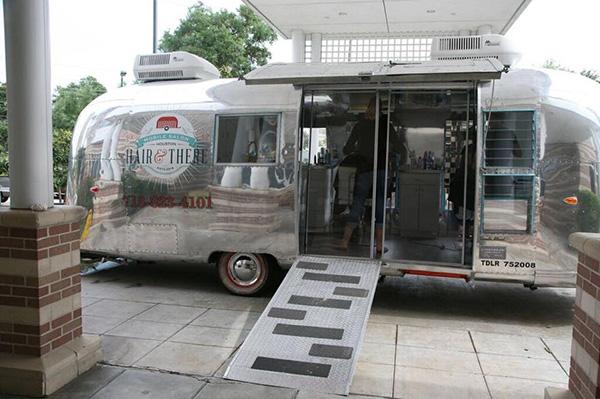 old camper turned into mobile salon