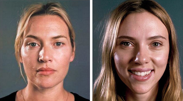 scarlett johansson and kate winslet posted no makeup photos the