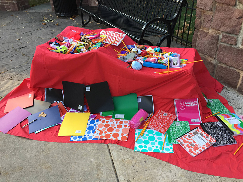 crossing guard table for kids first day of school