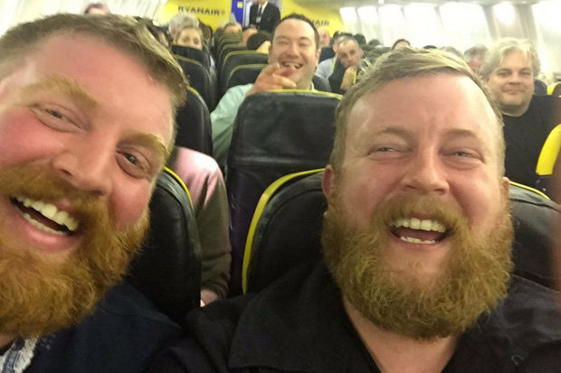 stranger twins meet on plane