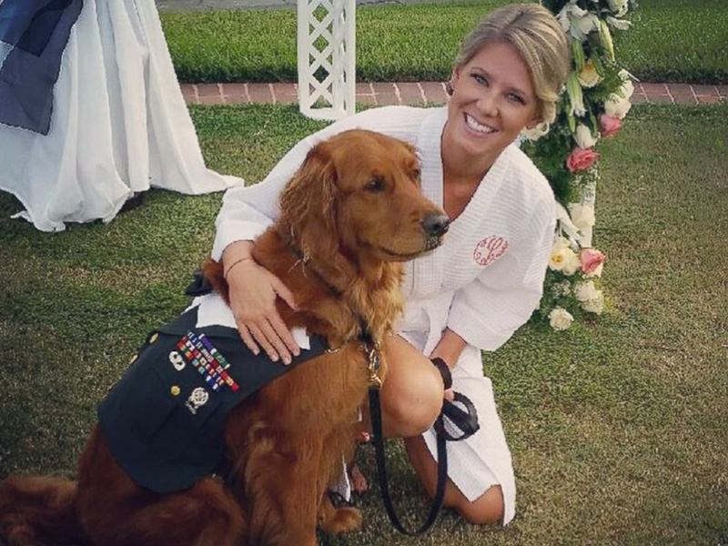 therapy dog serves as best man for veteran