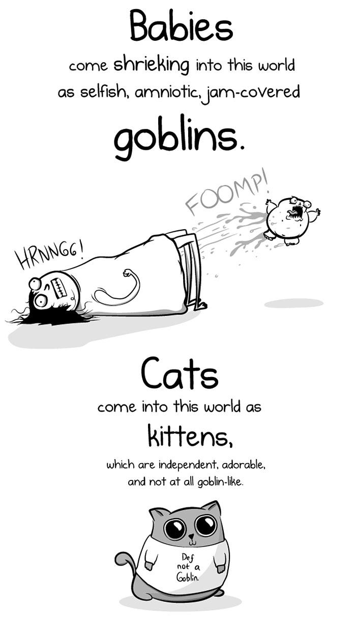 cats vs babies