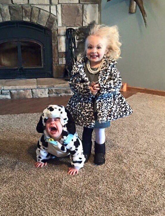 sc 1 st  Sunny Skyz & Cruella and her Dalmatian Kid Costumes