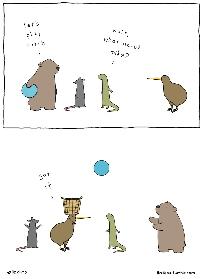 Prepare To Fall In Love With Liz Climo's Charmingly Quirky Animal Kingdom Comics