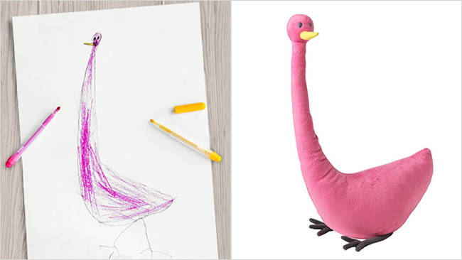 IKEA childrens drawings into toys