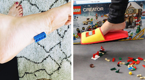LEGO Creates AntiLEGO Slippers To Protect Your Feet From Their - Lego creates anti lego slippers with extra padding to end a pain parents know too well