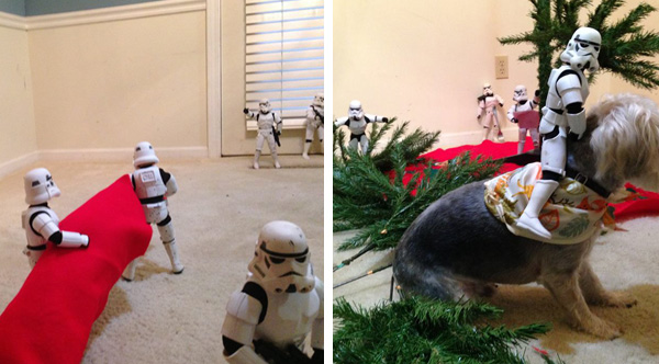 Stormtrooper Toys Hilariously Assemble A Christmas Tree Under ...