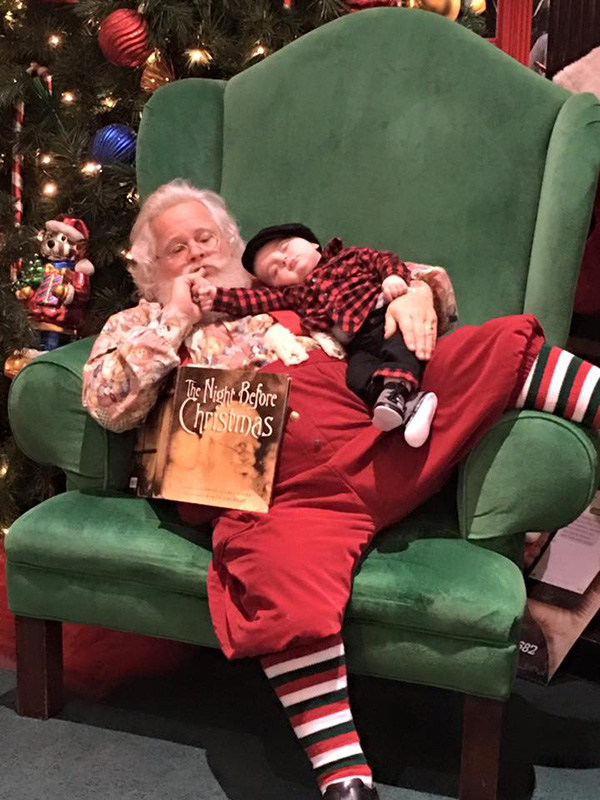 Santa Refuses To Wake Sleeping Baby Takes The Most