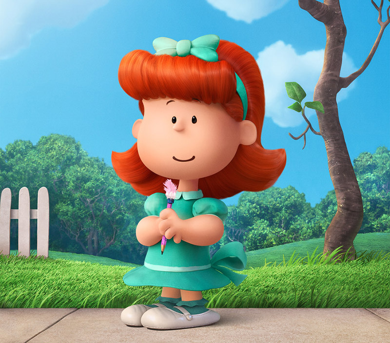 little red haired girl charlie brown