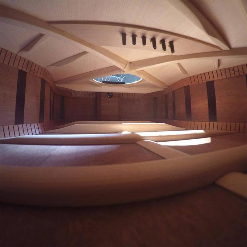 inside of guitar looks like a nice hall