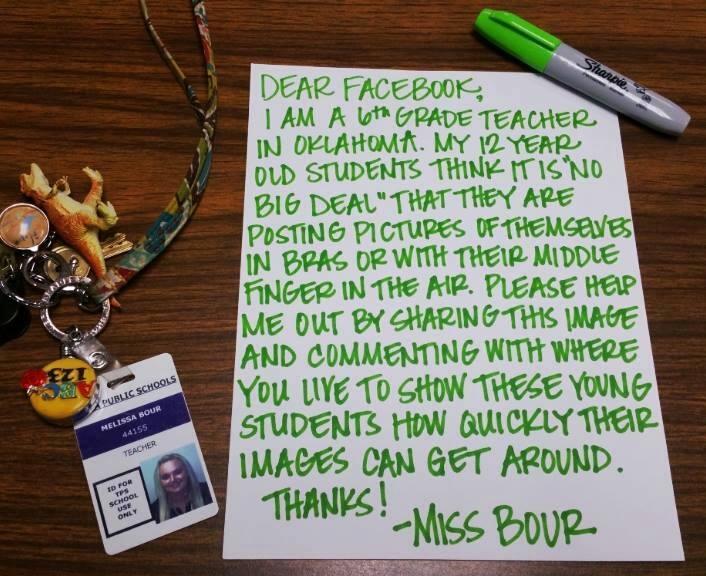 teacher lesson about social media viral letter