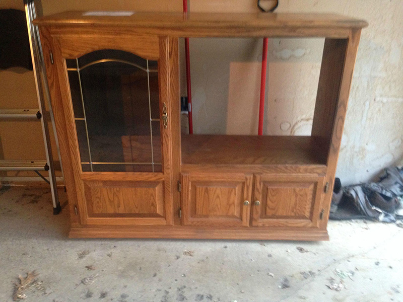 old entertainment center toy kitchen