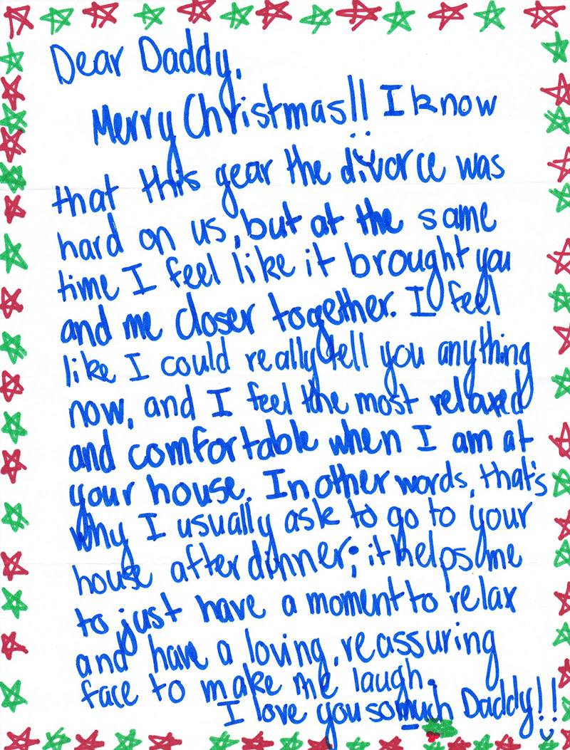 teen daughter letter to divorced dad