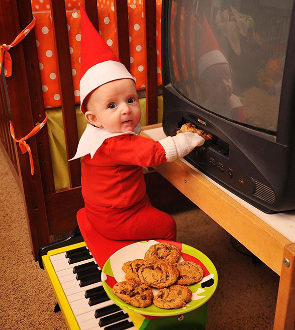 dad turns son into real elf on the shelf