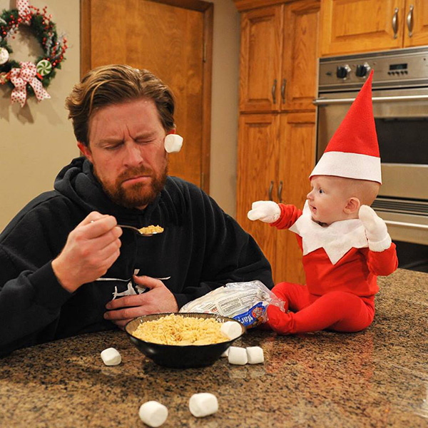This Dad Creates Real Elf On The Shelf Photos With His 4